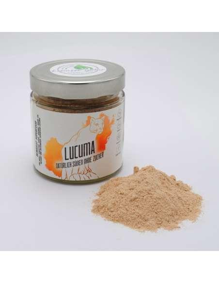 bio superfood zuckerersatz lucuma pulver im glas