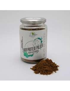 bio Hanfprodukt hanfproteinpulver im glas