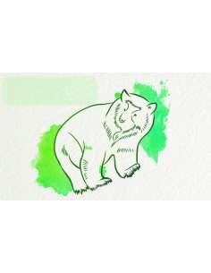 Krafttier Bär Etikett bewusstnatur